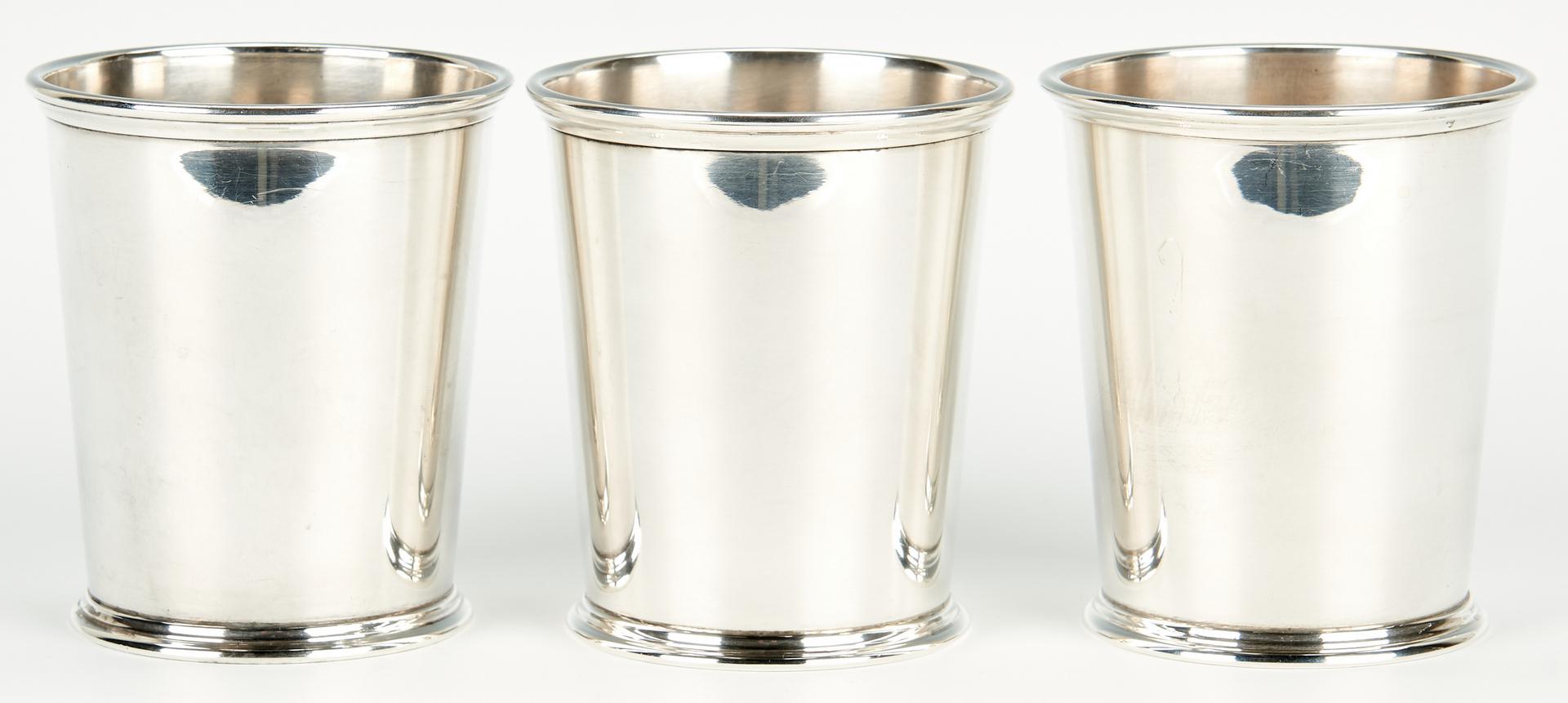 Lot 1040: 3 Kirk Sterling Silver Mint Julep Cups