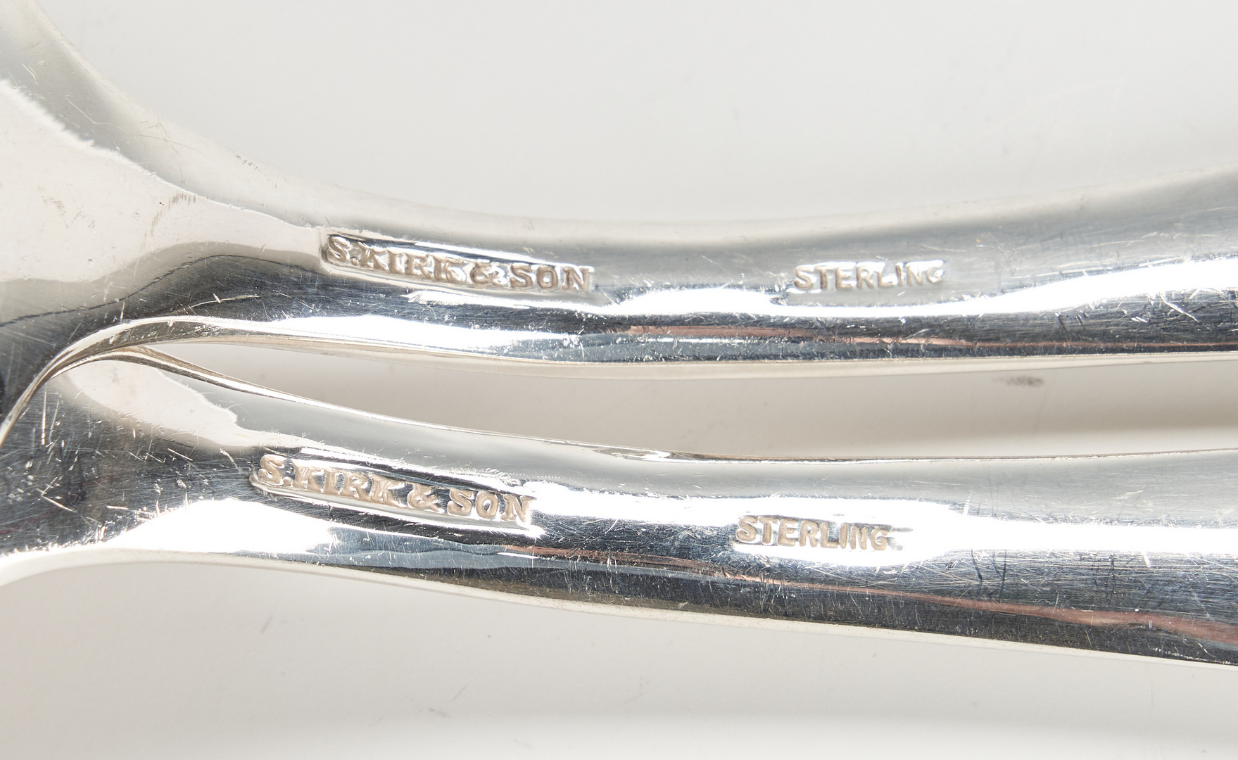 Lot 1043: 6 Pcs. Sterling Silver, incl. Kirk Repousse, overlay pitcher