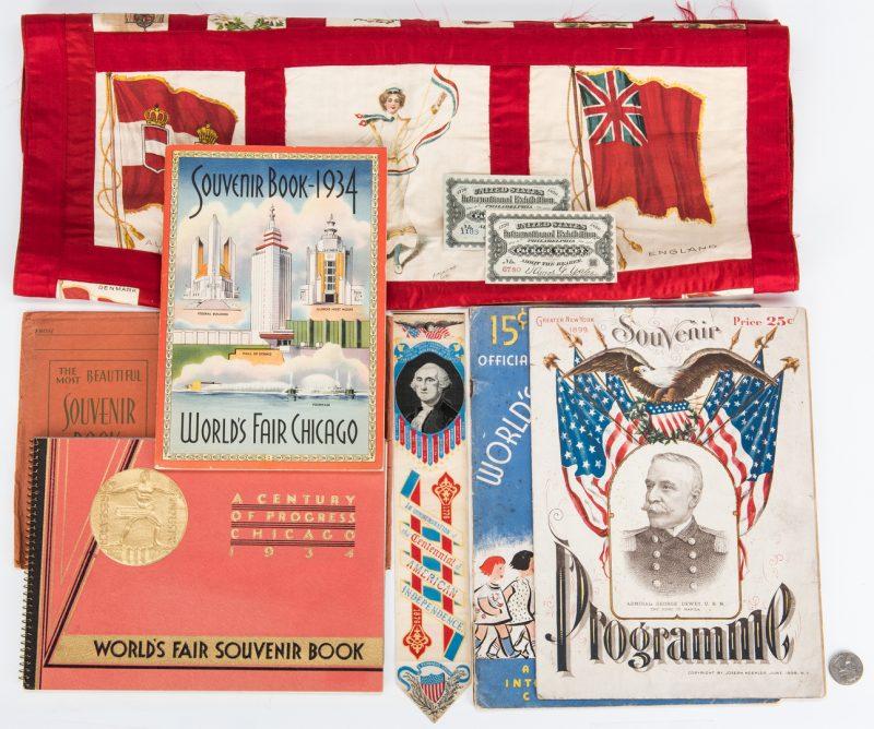 Lot 1045: World's Fair Ephemera and Textiles, 7 items