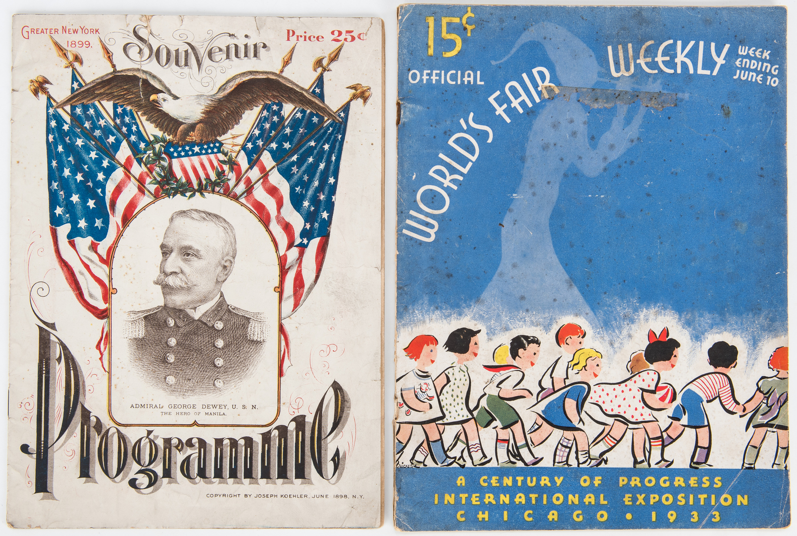 Lot 1045: World's Fair Ephemera and Textiles, 7 items