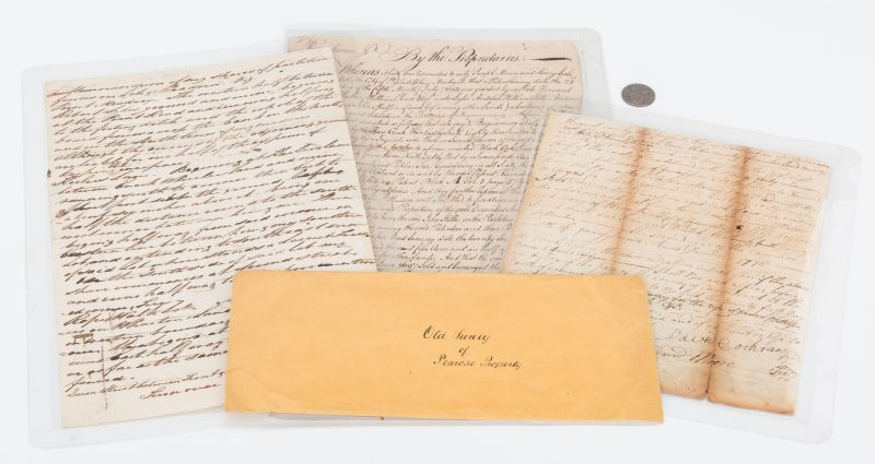 Lot 1048: 3 Early PA Documents, incl. John Penn Signed
