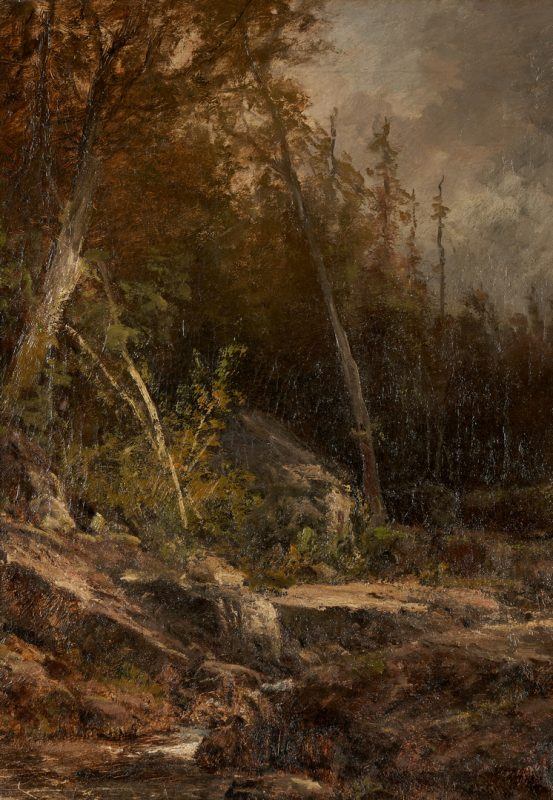 Lot 104: William Louis Sonntag O/C Landscape Scene