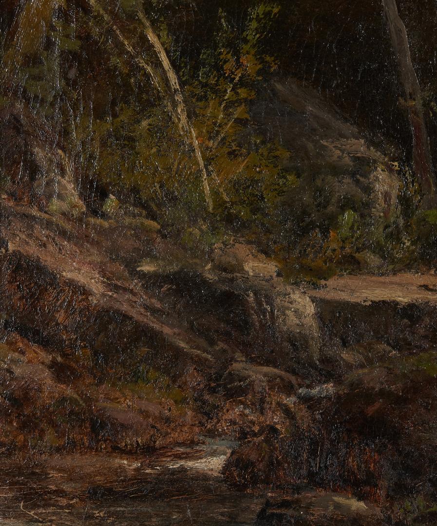 Lot 104: William Louis Sonntag O/C Landscape Scene