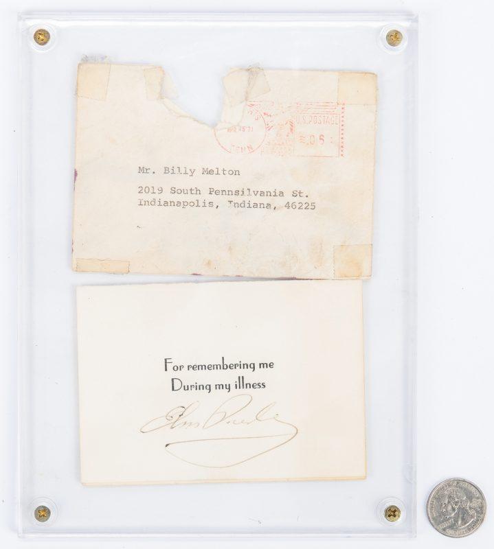 Lot 1052: Elvis Presley Cut Signature w/ Envelope