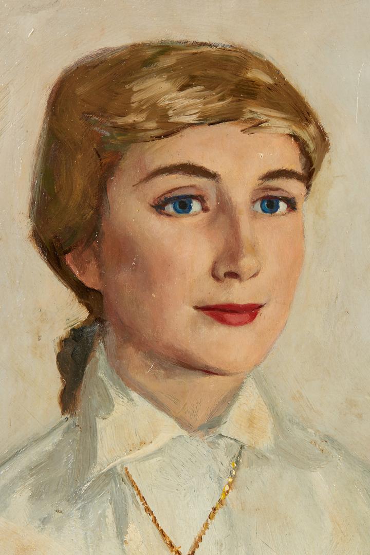Lot 1054: 3 Female Portraits by Ingle, Yohn, Bohrer.
