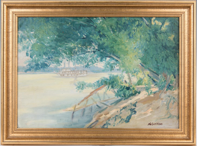 Lot 1055: 2 Indiana O/B Landscape Paintings