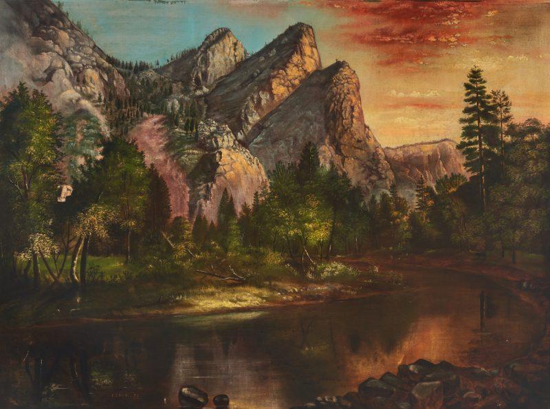 Lot 1057: E.S. Moore O/C, Western Mountain Landscape