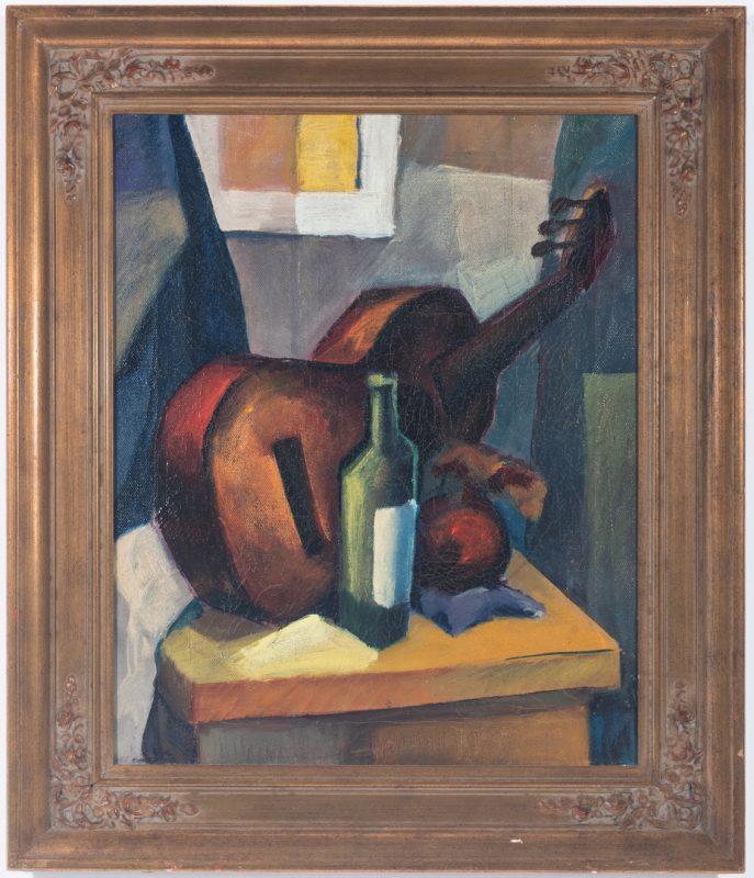 Lot 1060:  Cubist Still Life, attr. Karl Hermann Baumann