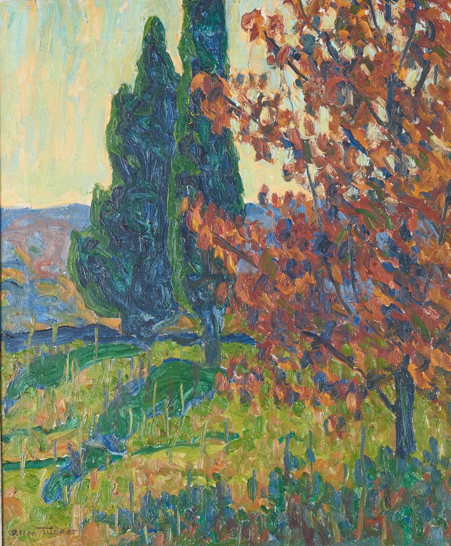 Lot 107: Allen Tucker O/C Impressionist Landscape