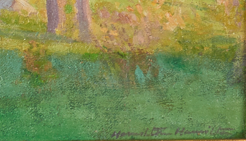 Lot 108: Hamilton Hamilton O/C Painting, Impressionist Landscape