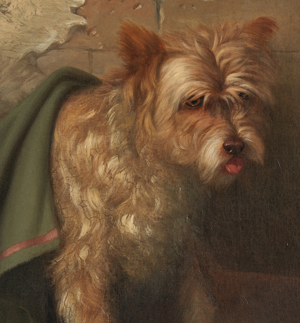 Lot 109: Frederick Rondel Sr., O/C Painting of Dog