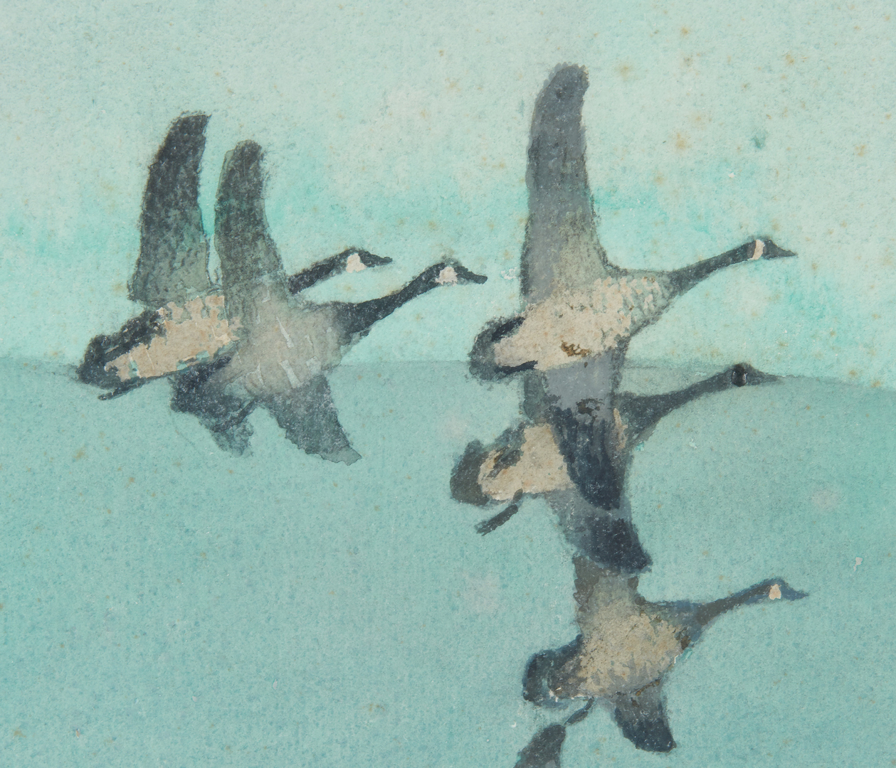 Lot 110: Roy Mason W/C, Marsh with Geese