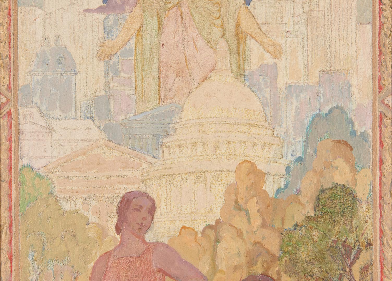 Lot 116: 2 Daniel MacMorris O/B Paintings, Old and New America