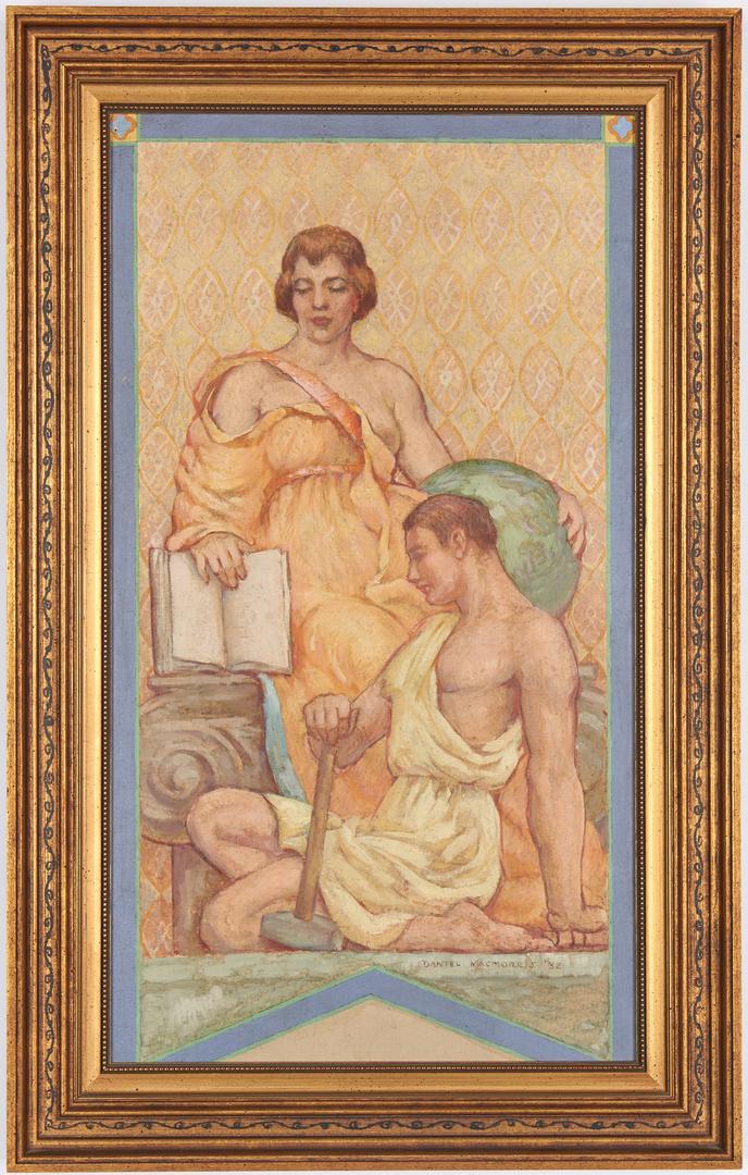 Lot 117: Daniel MacMorris O/B Mural Study, History of the Printed Word