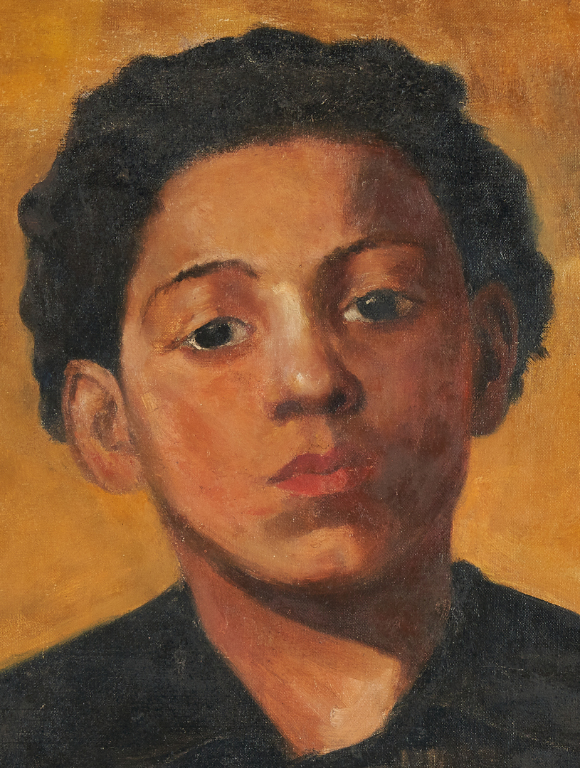 Lot 119: Lida Elston, O/C Portrait of an African American