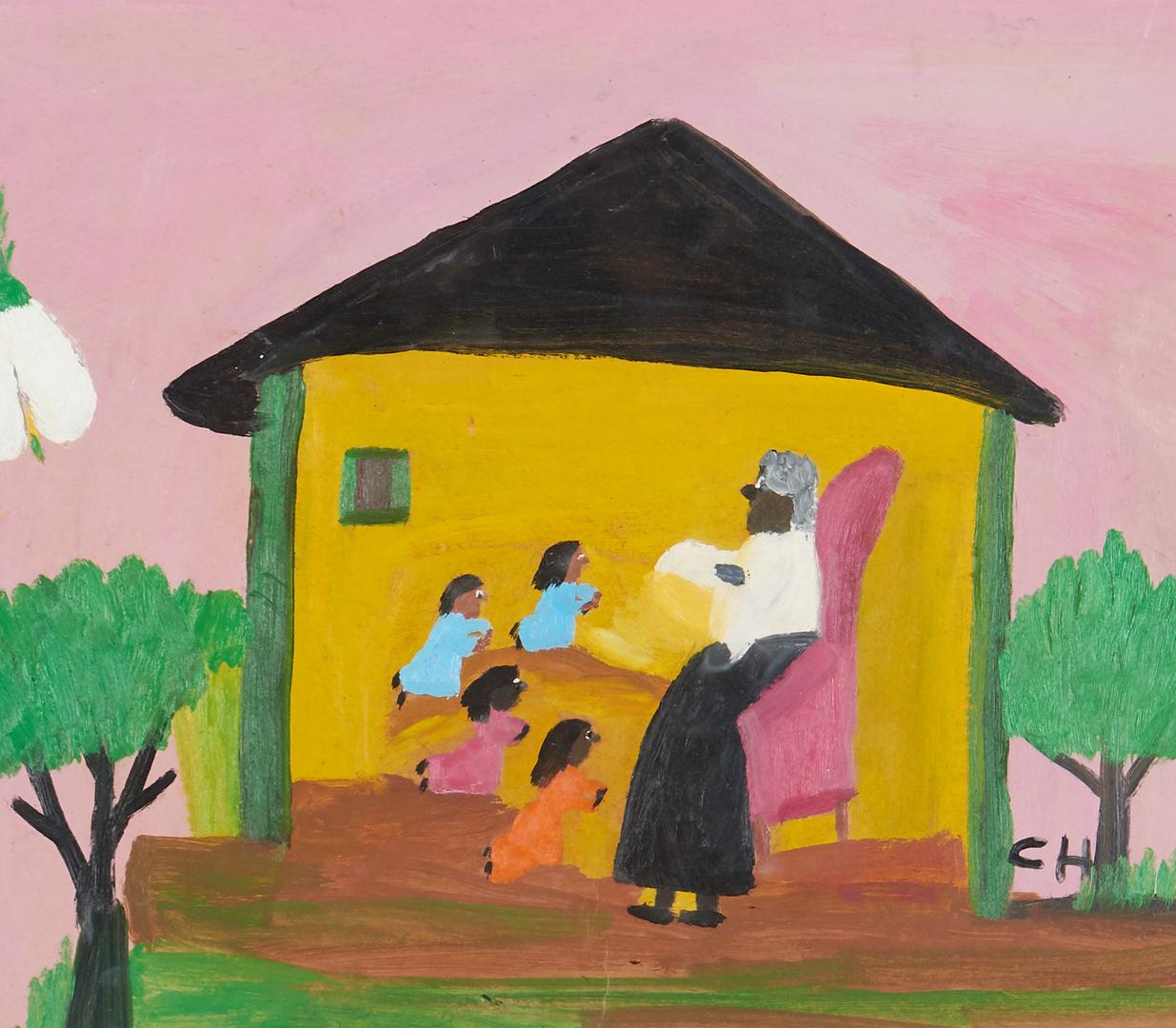 Lot 122: Clementine Hunter O/B, Children Praying