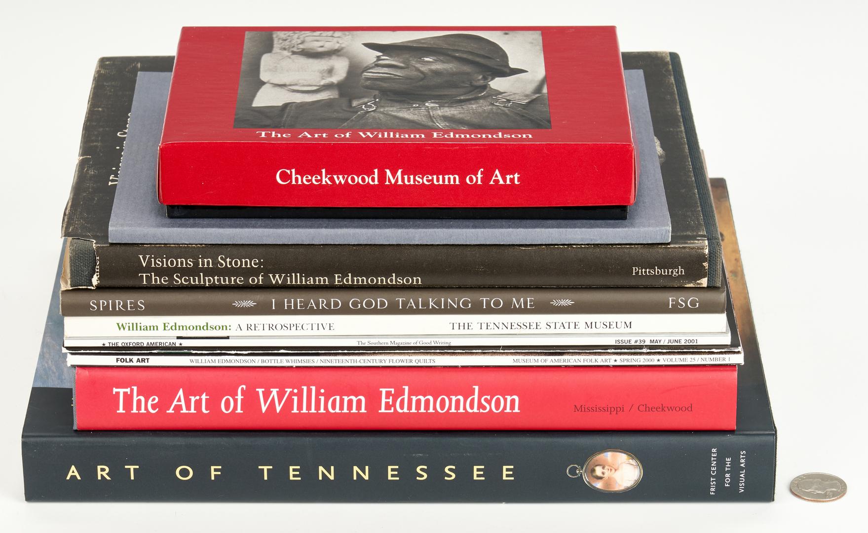 Lot 127: 10 William Edmondson Books, Exhibition Catalogs, & More