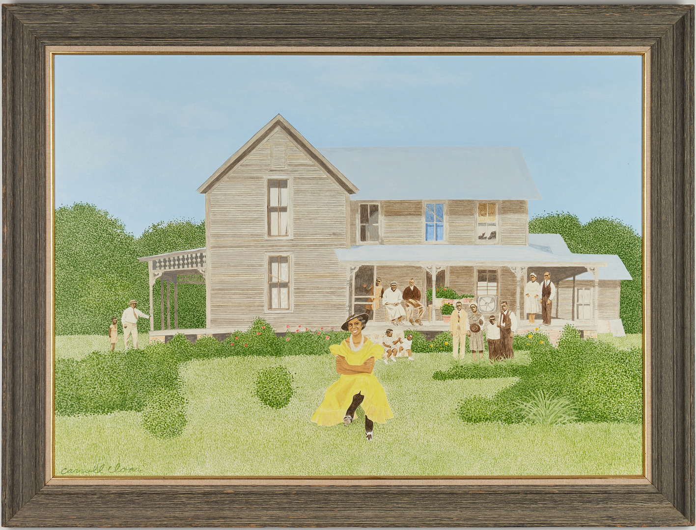 Lot 129: Carroll Cloar painting, The Landlady