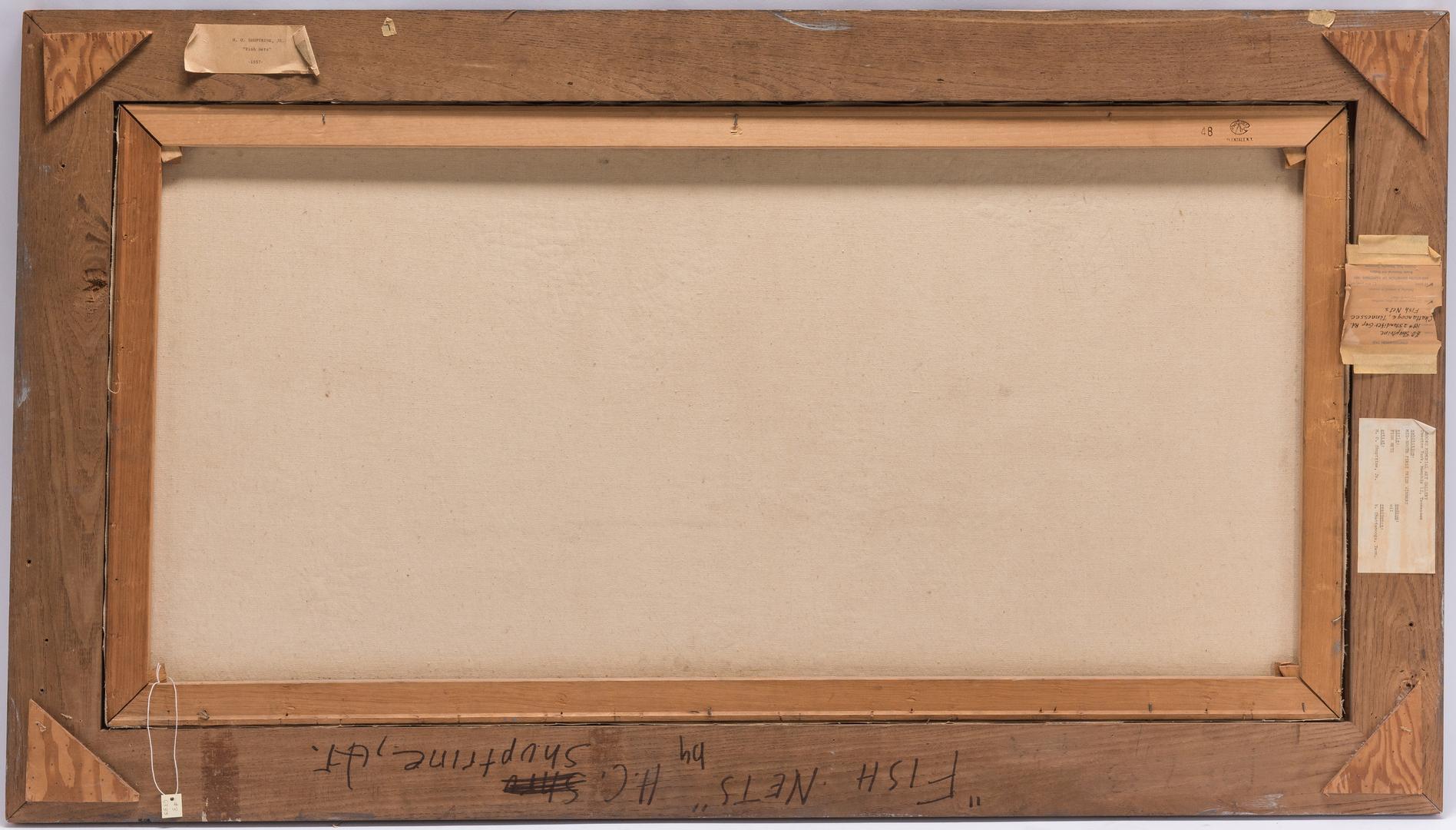 Lot 135: H. O. Shuptrine, Jr. O/C Abstract Painting, Fish Nets