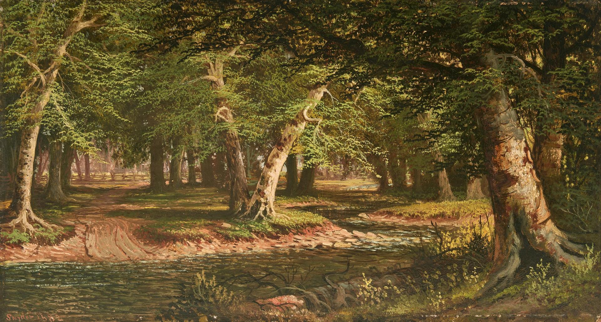 Lot 143: William M. Snyder O/B, Forest Stream Landscape