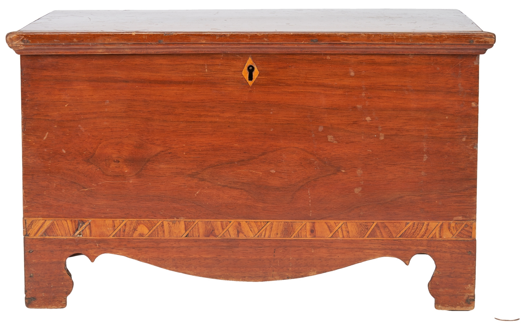 Lot 145: Miniature Southern Inlaid Blanket Chest