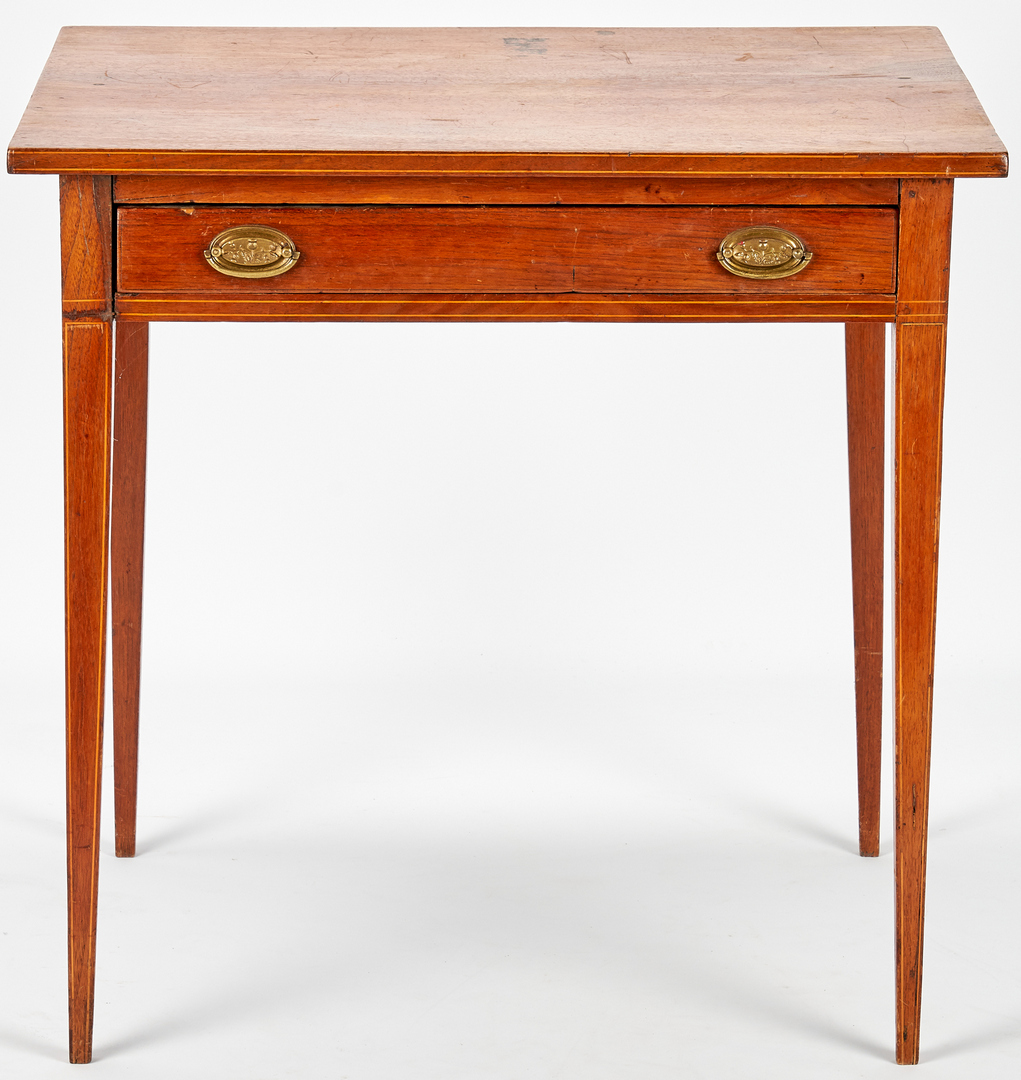 Lot 148: Southern Hepplewhite Inlaid Table