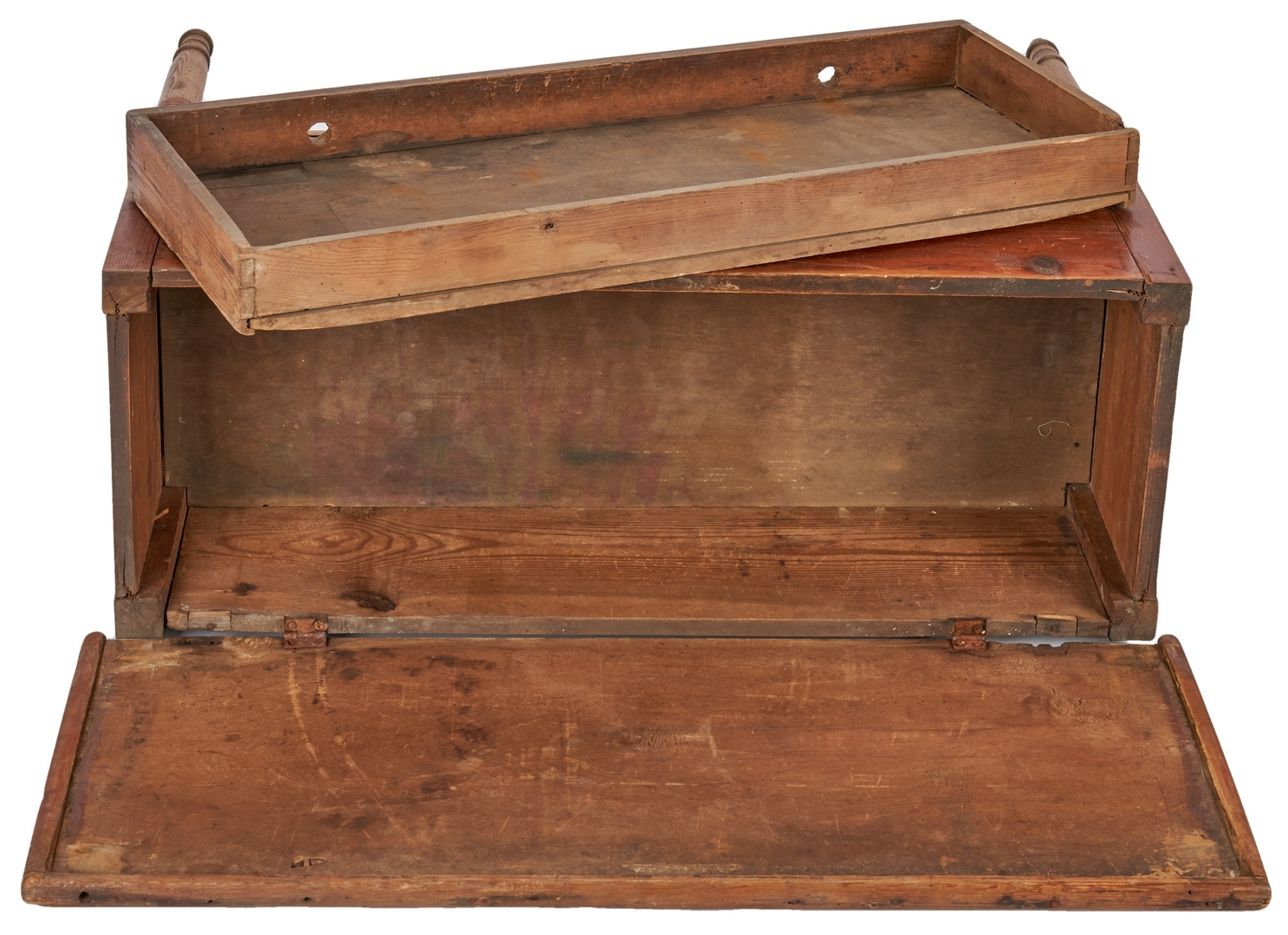 Lot 151: Early Georgia Red Wash Blanket Chest