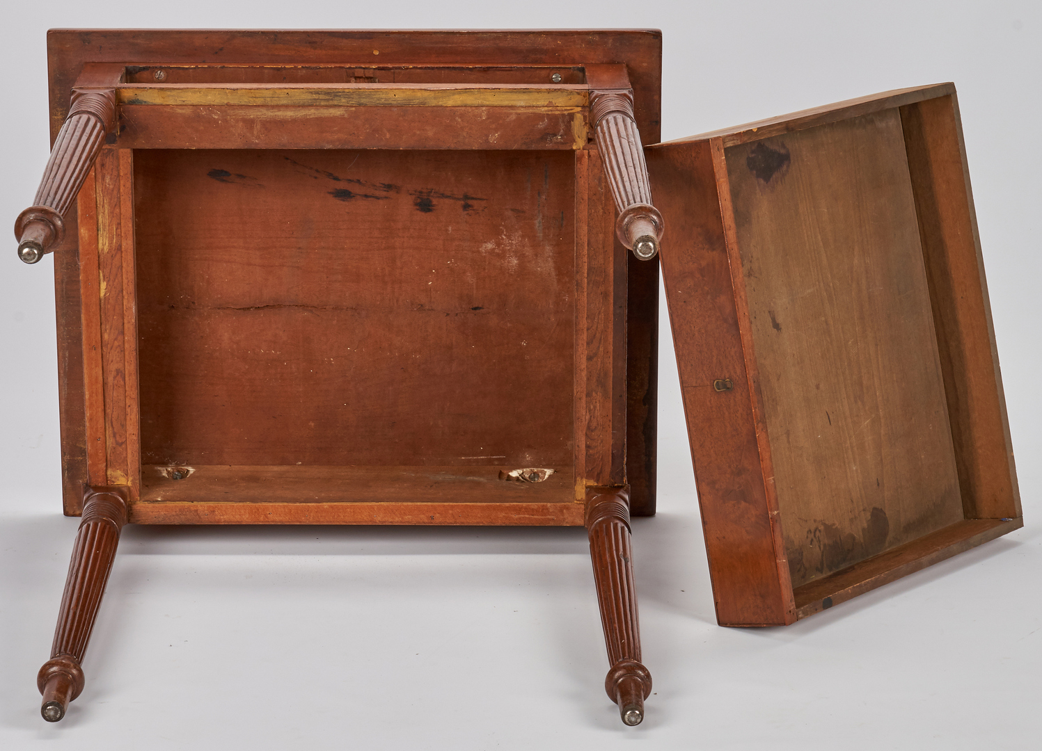 Lot 155: East TN Sheraton Cherry Stand, poss. Jacob Fisher