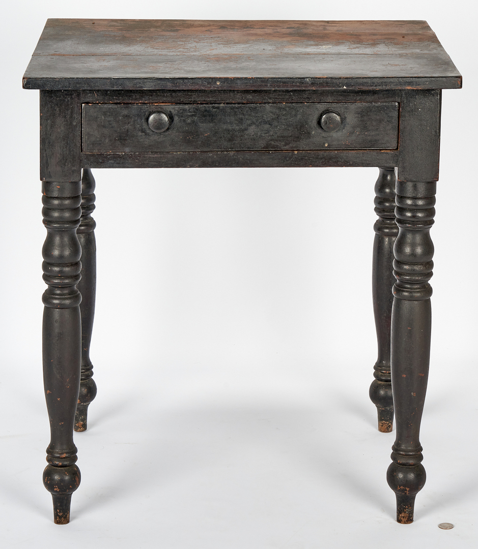 Lot 157: Middle TN Cherry Work Table, Original Surface