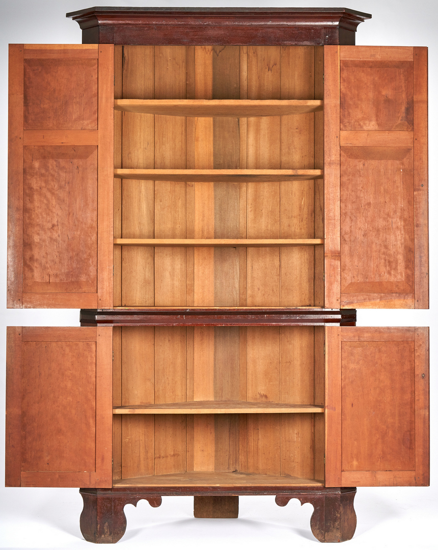 Lot 158: Middle TN Cherry Corner Cupboard