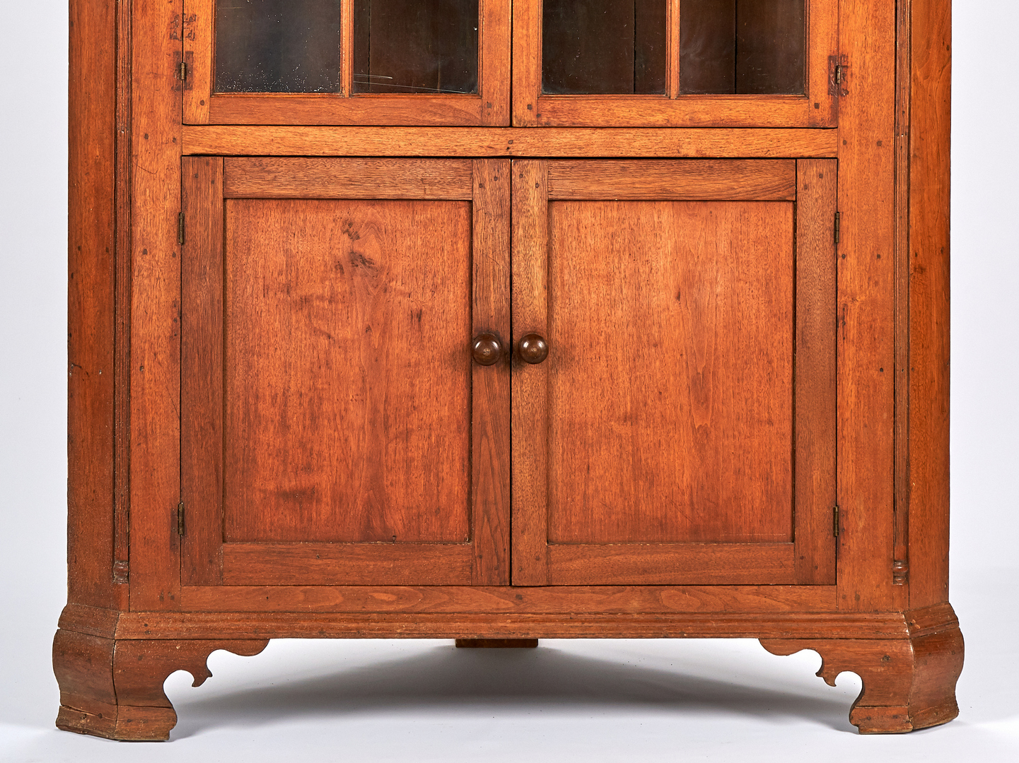 Lot 162: Early East TN Corner Cupboard, Moses Crawford
