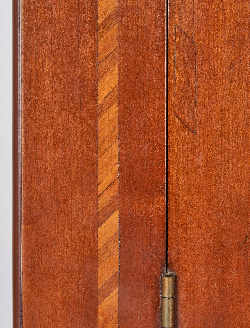 Lot 166: TN Cherry Inlaid Corner Cupboard