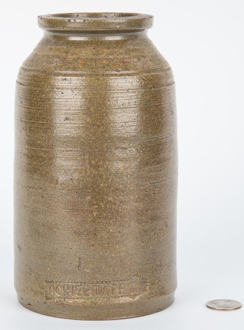 Lot 167: East TN Grindstaff Stoneware Pottery Jar