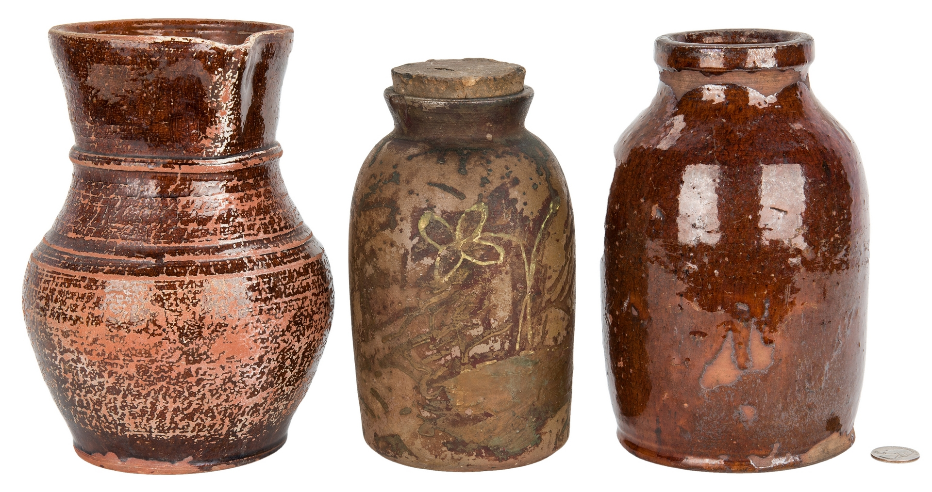 Lot 169: 3 East TN Pottery Pieces, incl. Cain