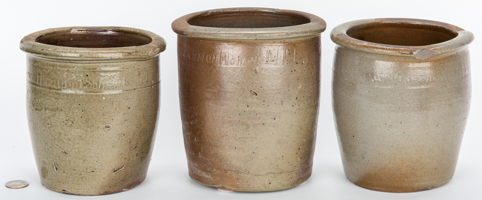 Lot 170: 3 East TN M. P. Harmon Stoneware Jars