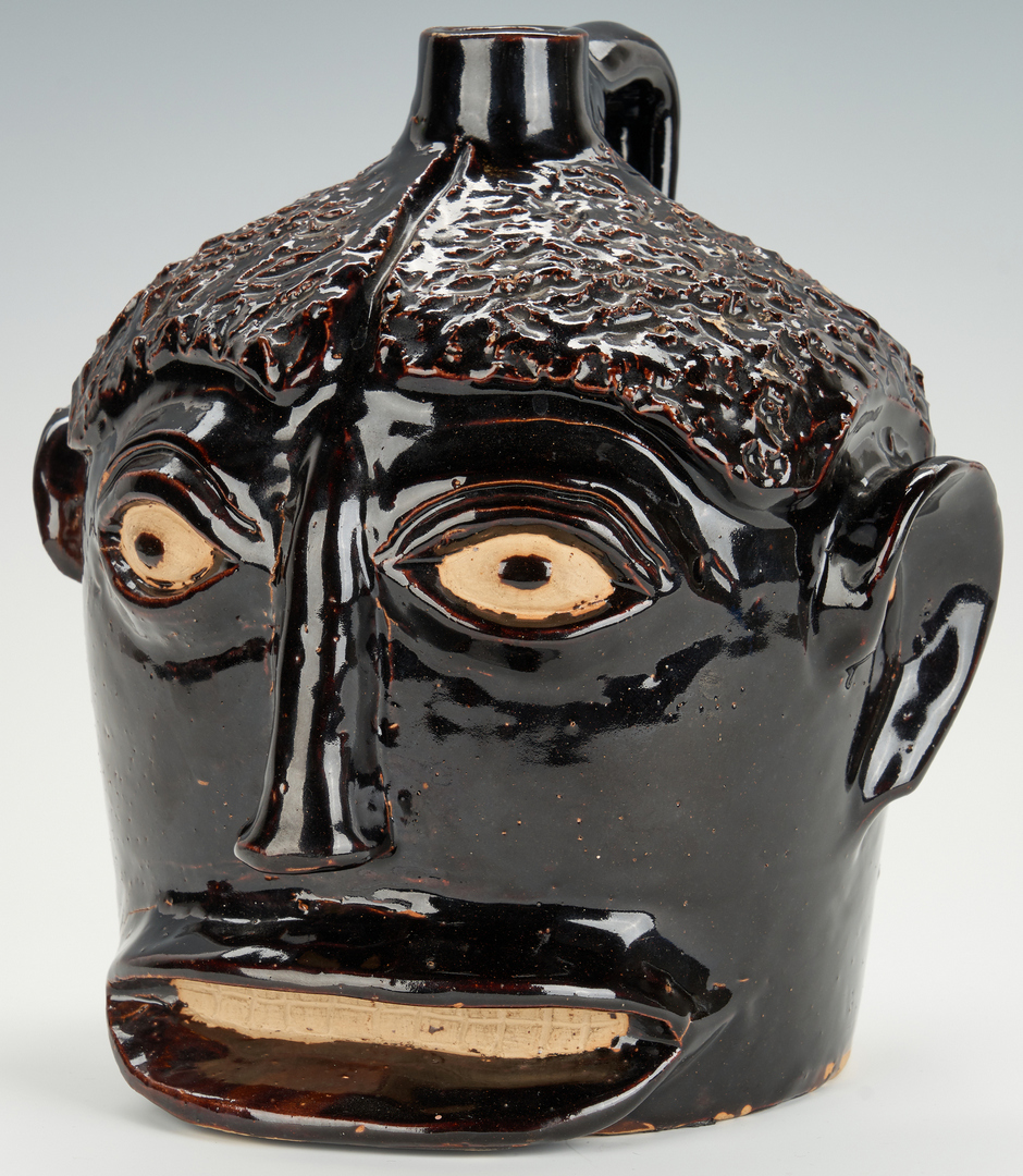 Lot 173: Folk Art KY Face Vessel, Ernest Galloway