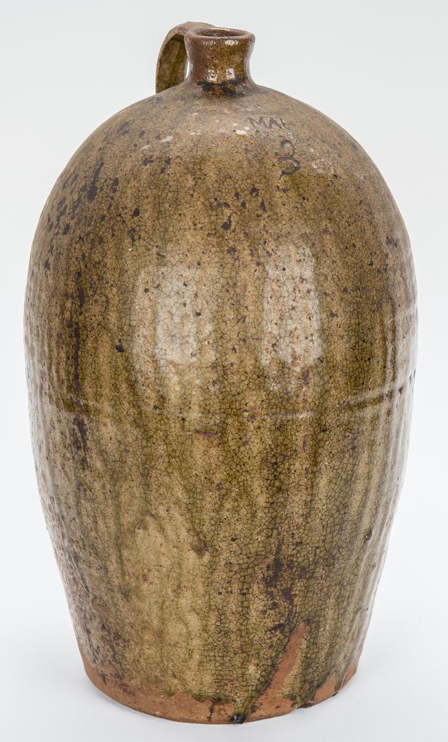 Lot 175: Western NC Pottery Jug, Martin Alexander Helton