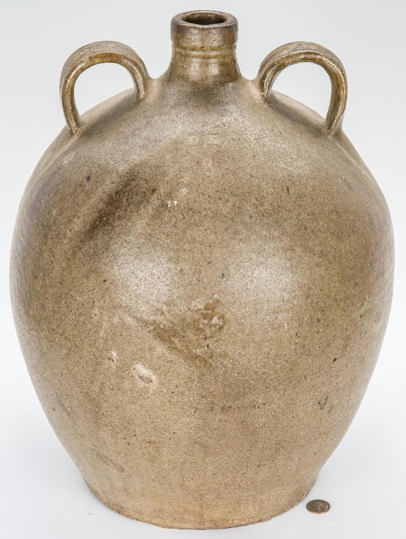 Lot 176: Rare NC Daniel Seagle 2-Handled Pottery Jug, Eight Gallons