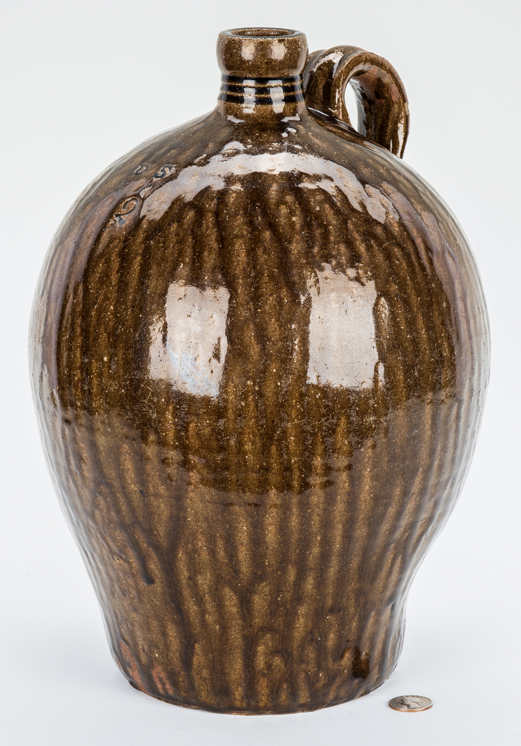 Lot 177: NC Stamped Daniel Seagle Pottery Jug, Two Gallons
