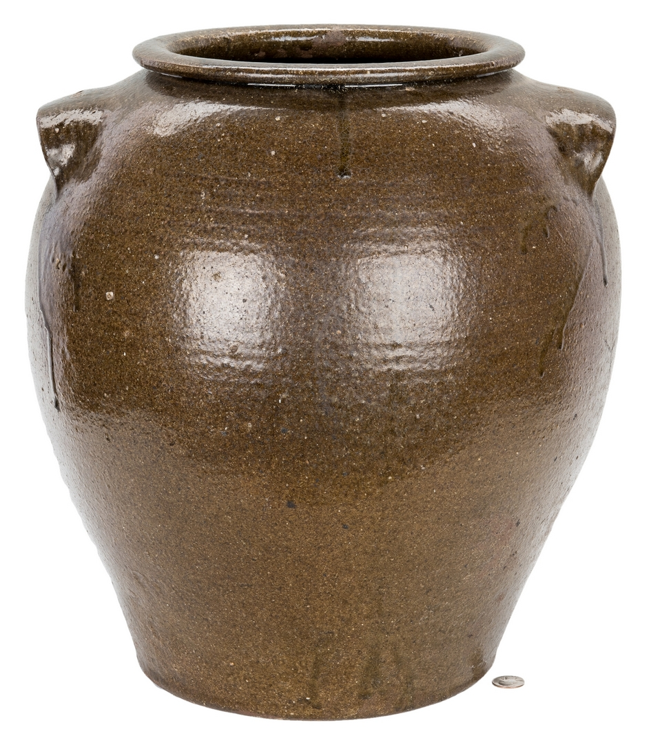 Lot 178: Monumental Ten Gallon Daniel Seagle Pottery Stoneware Jar