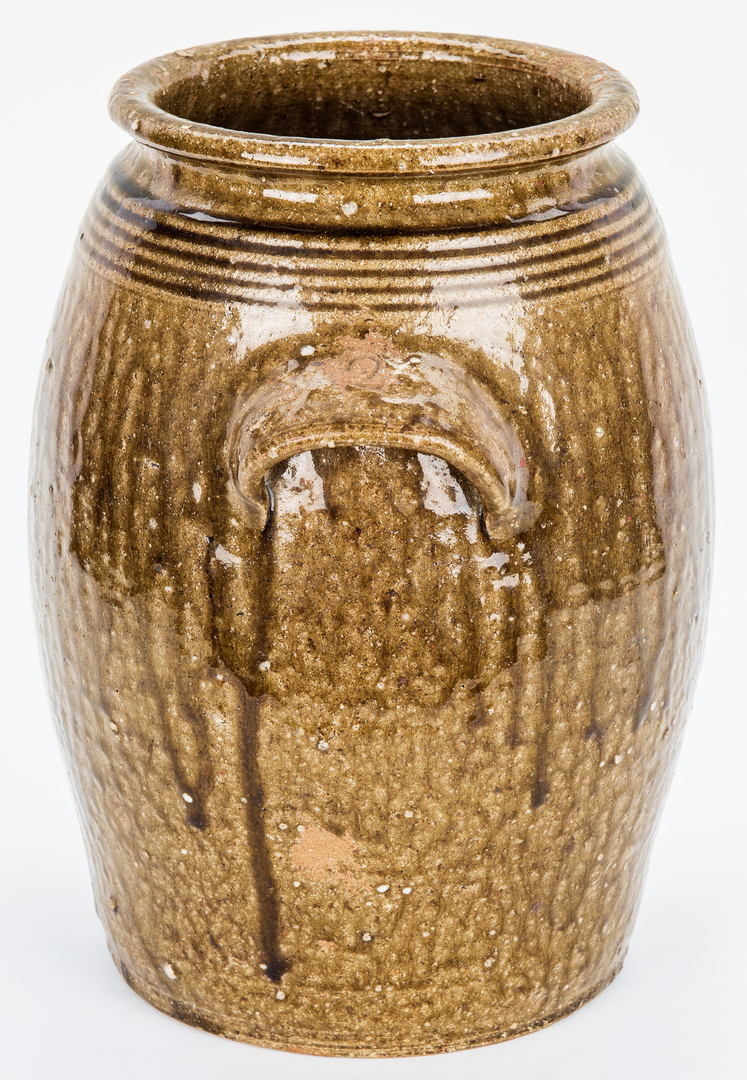 Lot 179: NC Stamped Daniel Seagle Pottery Jar, Two Gallons