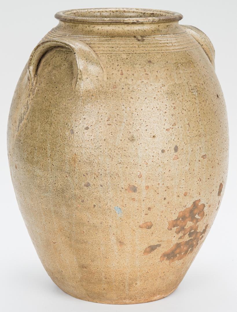 Lot 180: 2 NC James Franklin Seagle Pottery Jars, JFS Stamped