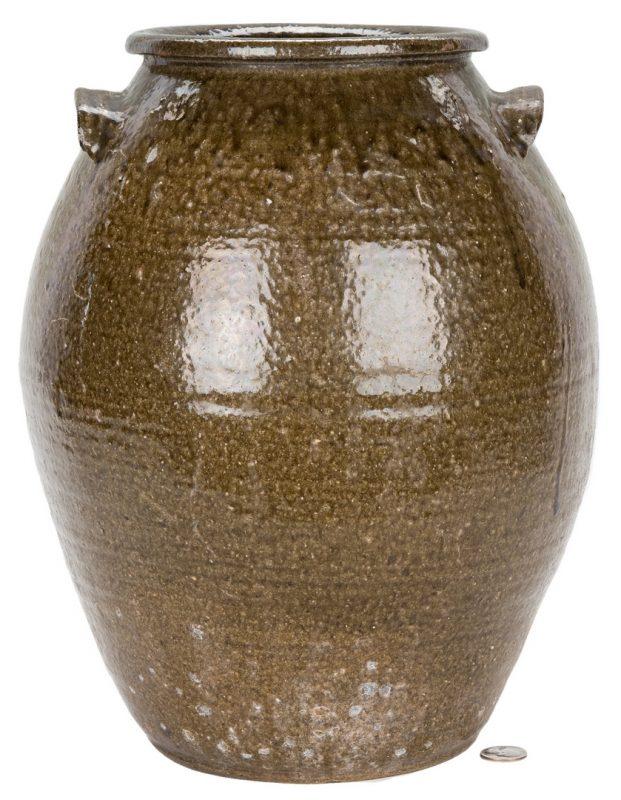 Lot 181: Western NC Nelson Bass Pottery Jar