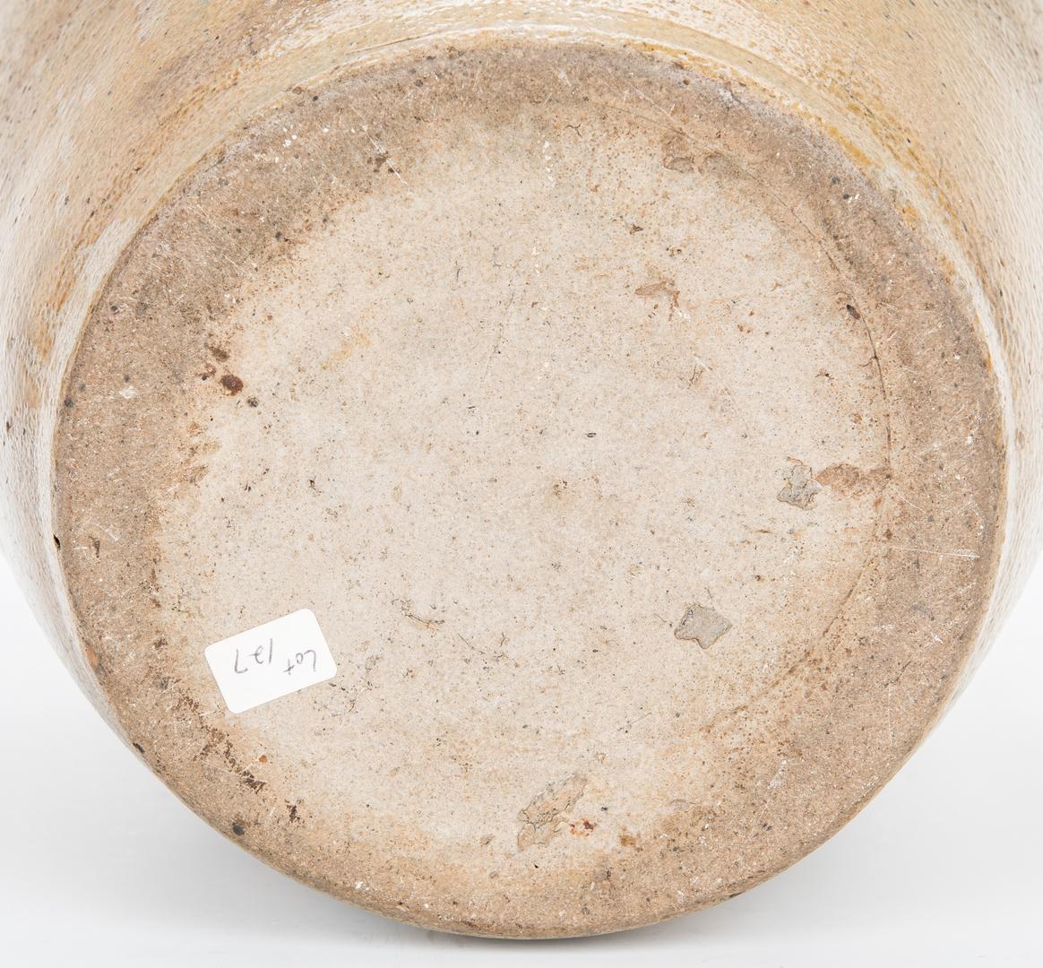 Lot 183: 2 NC Enoch Craven Stoneware Pottery Storage Jars
