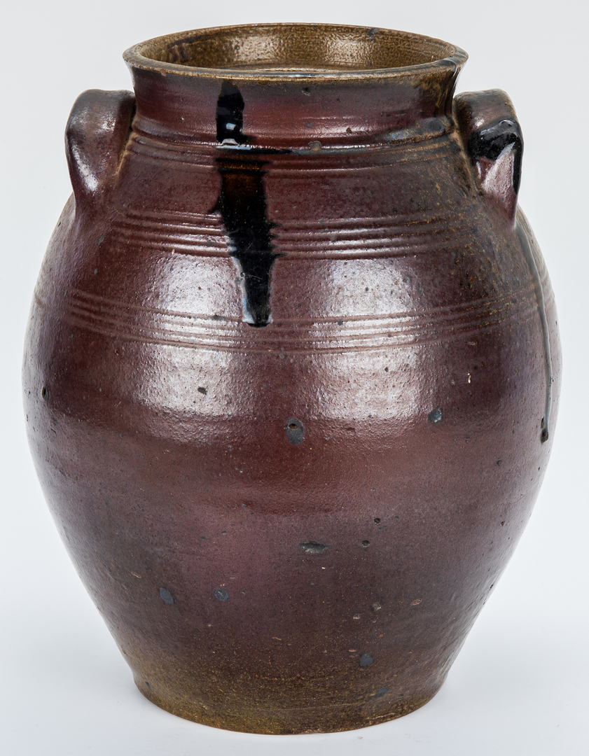 Lot 184: NC Stoneware Pottery Jar, attrib. Webster Pottery
