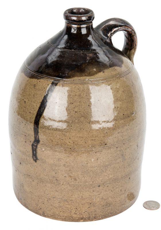 Lot 187: Sand Mountain Alabama Double Dip Pottery Jug