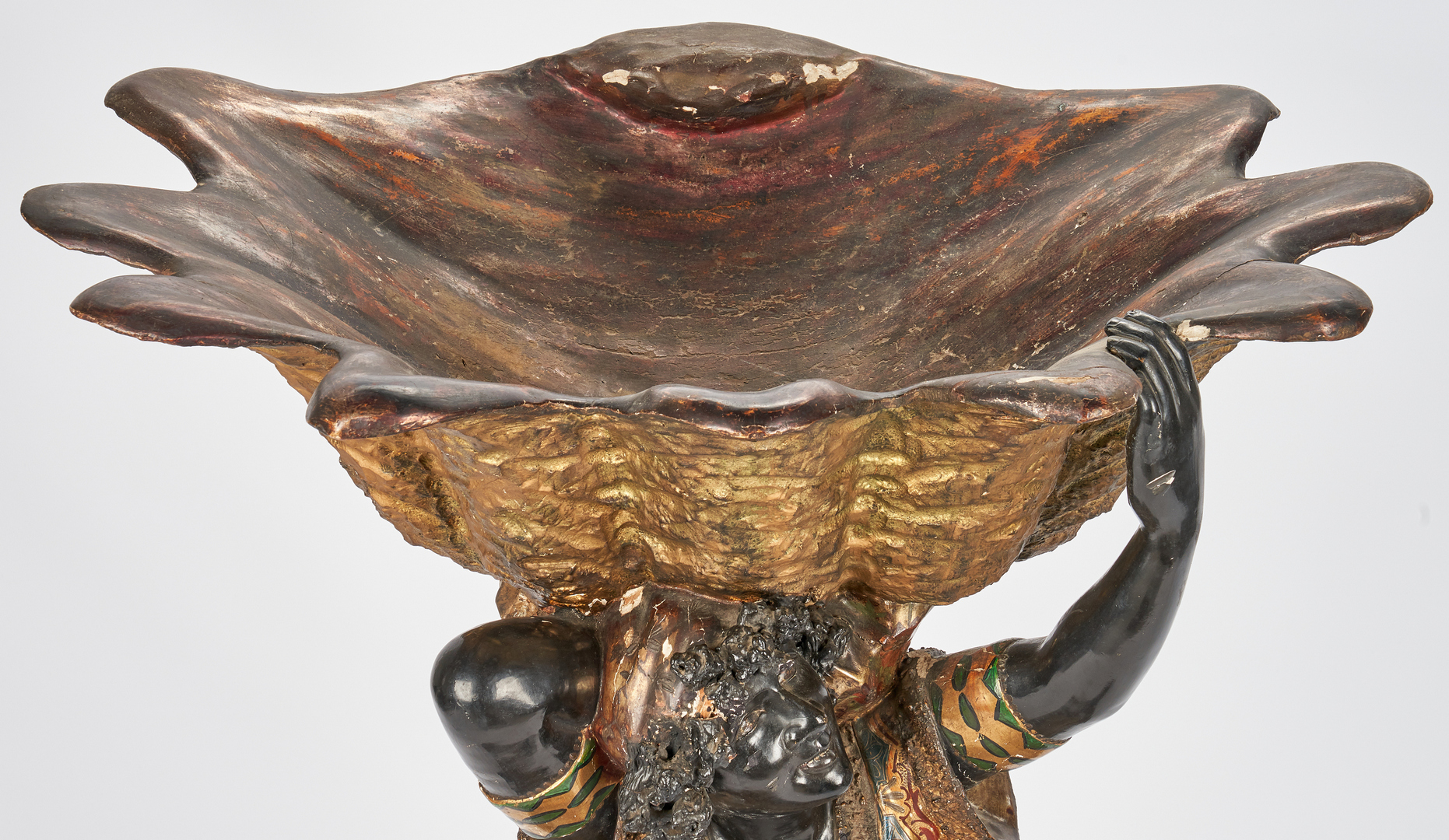 Lot 192: Italian Wood & Polychrome Blackamoor Jardiniere
