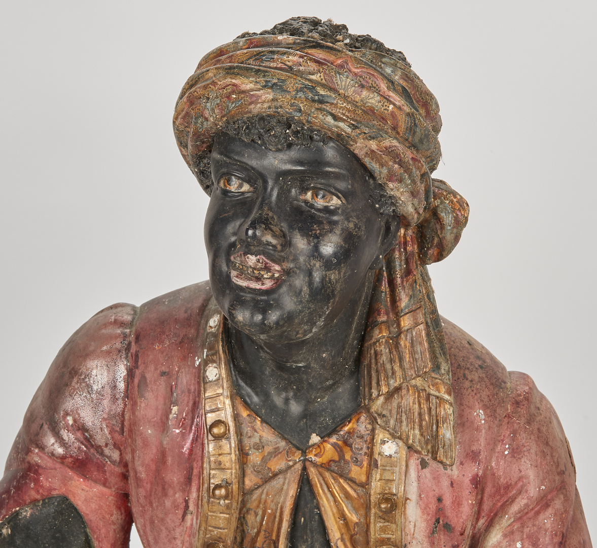 Lot 193: Italian Carved & Painted Venetian Blackamoor