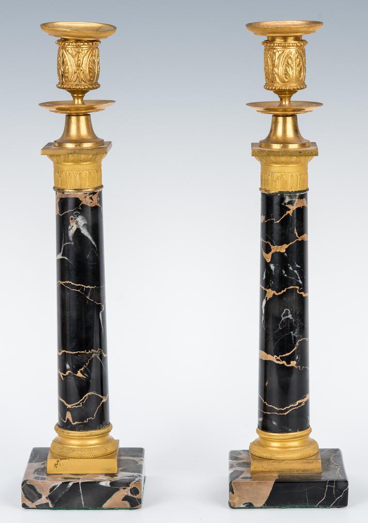 Lot 196: Pair French Jollet et Cie Candelabra plus Candlesticks