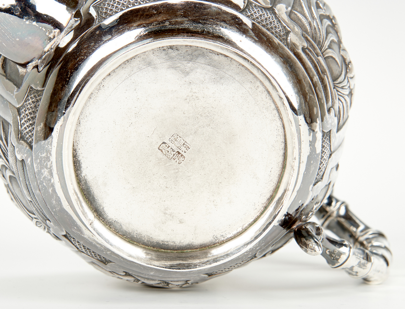 Lot 1: 3 Pc. Chinese Export Silver Tea Service